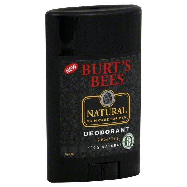 Burt S Bees Natural Skin Care For Men Deodorant 2 6 Oz Natural Skin Care Skin Care Mens Deodorant