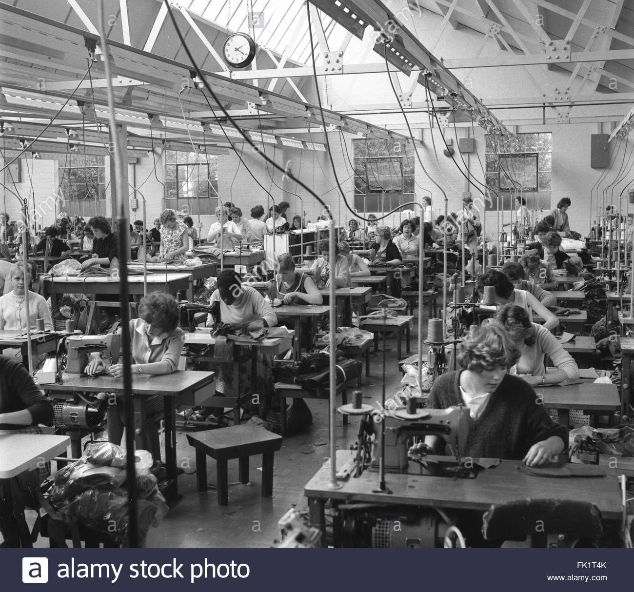 Women Workers Working In Clothing Factory 1960s Britain Rag Trade Factory Stock Photo 1960s Britain Stock Photos Photo