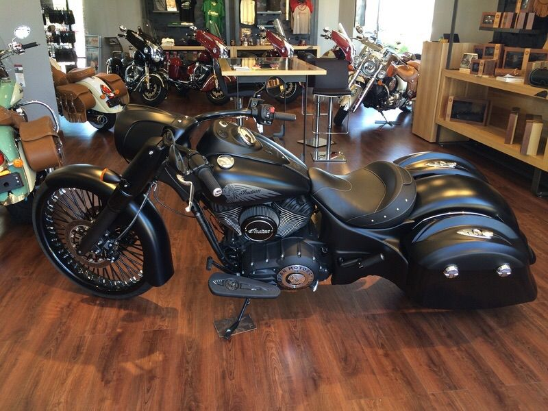 The Dream Bike An Indian Dark Horse With Hard Saddlebags With