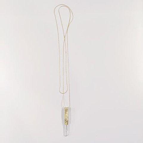 shoprydersmith - Clear Quartz Crystal + Brass