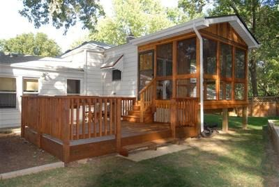 Like This Idea From Screened In Porch To Outdoor Patio Trailer
