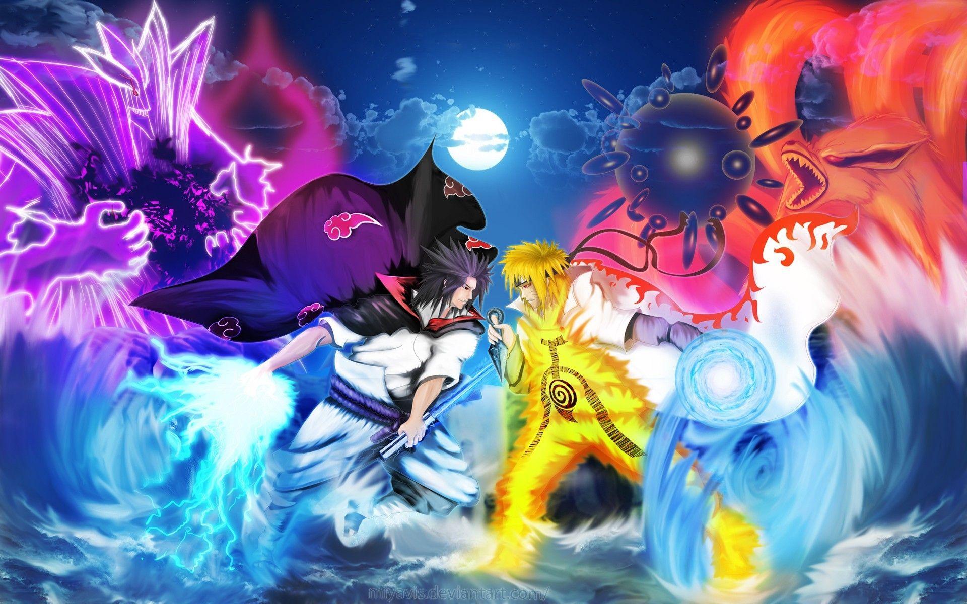 Gambar Animasi Bergerak Naruto Vs Sasuke