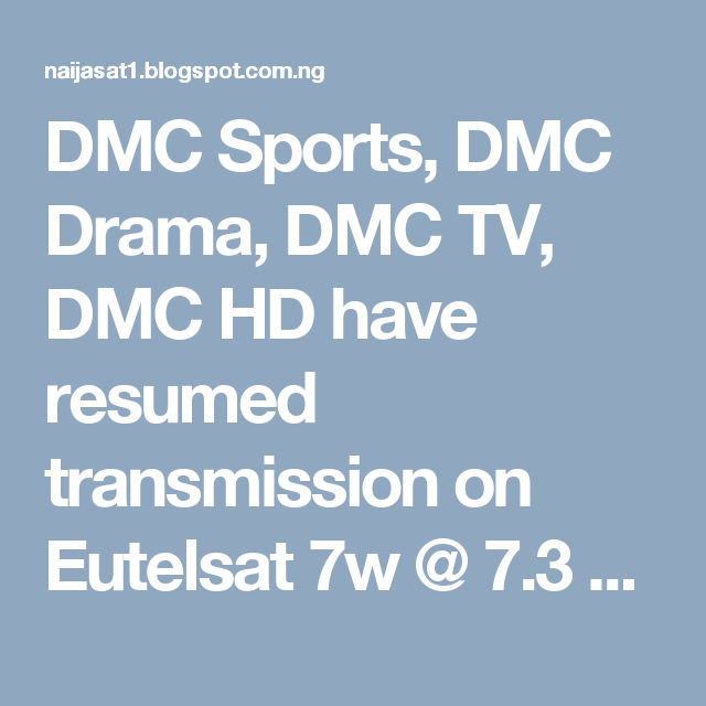 dmc sports dmc drama dmc tv dmc hd have resumed transmission on