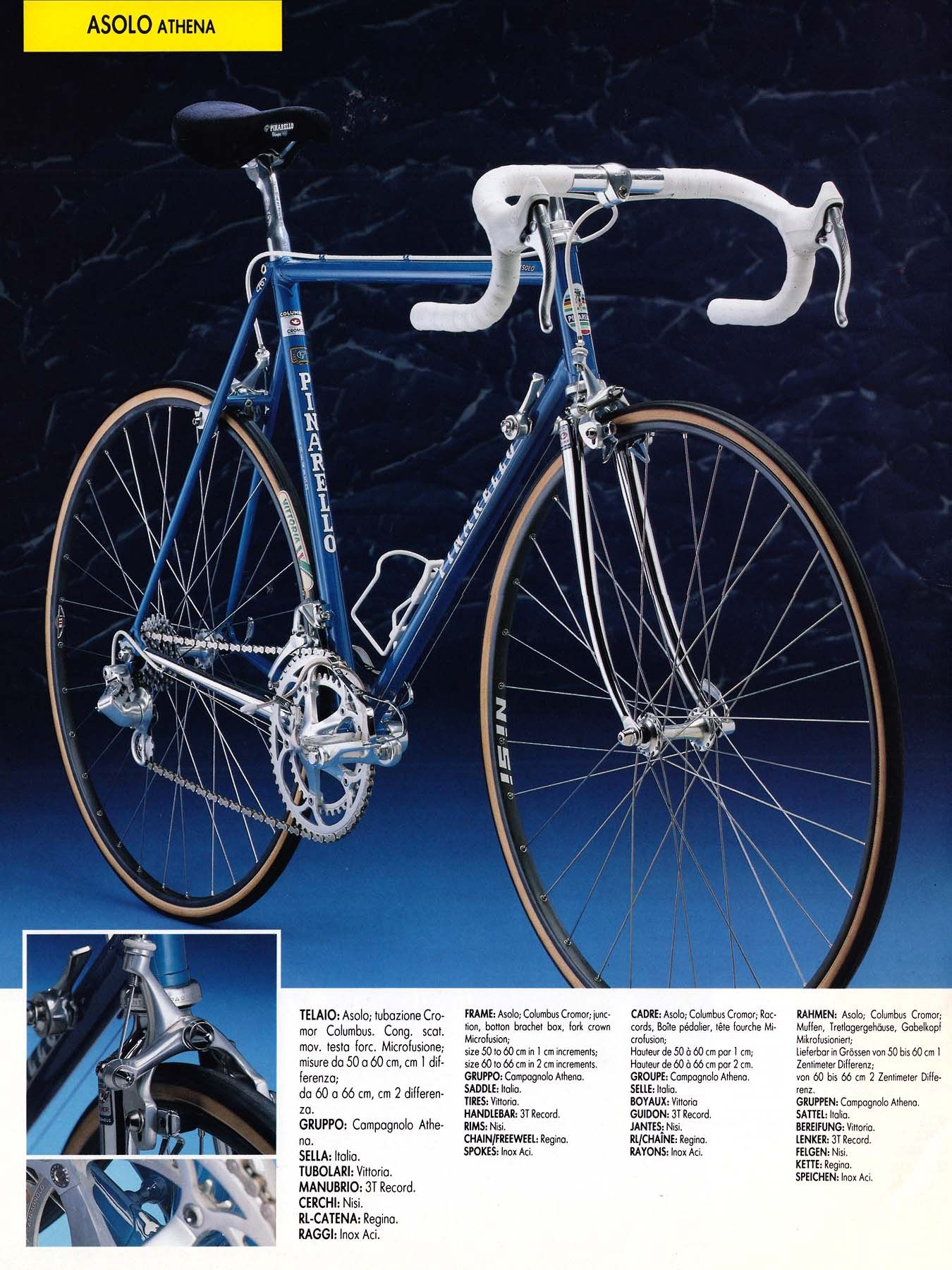 Pinarello Asolo with Campagnolo Athena/Nisi | Vintage bicycles ...