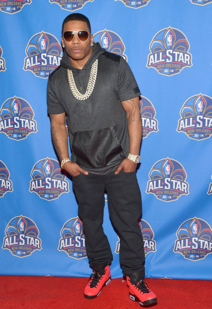 Nelly wearing Air Jordan 6 Retro Infrared 23  f3f223c97