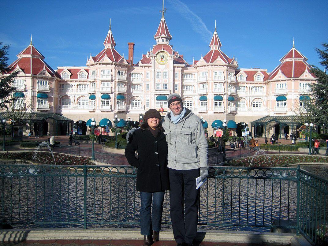 Ana & Carlos. Disney, Paris. December, 2009