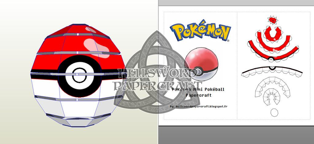 Pokemon Mini Pokeball Preview By HellswordPapercraft On DeviantArt