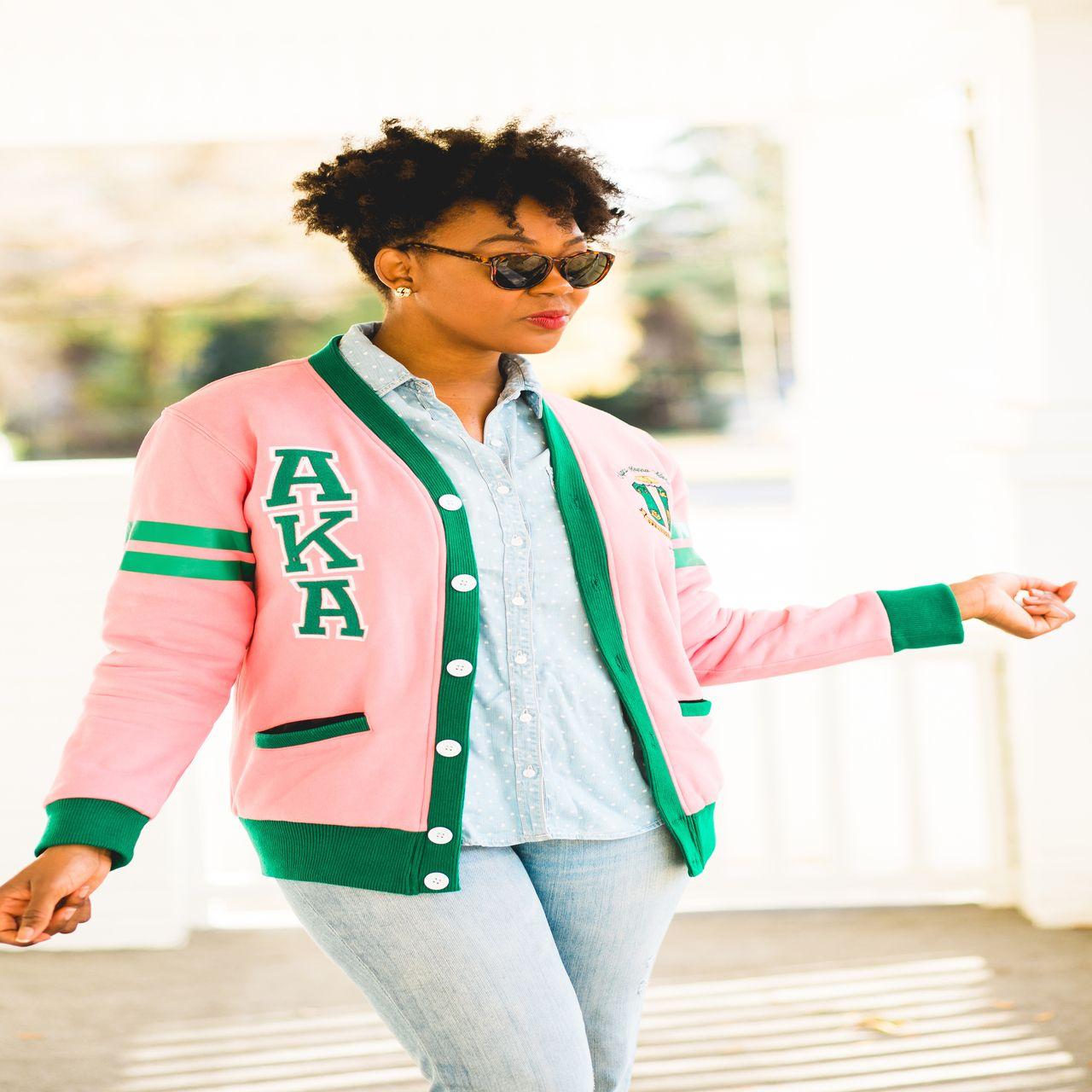 Pink & Green Cardigan | Fashionably Greek | AKA | Pinterest ...