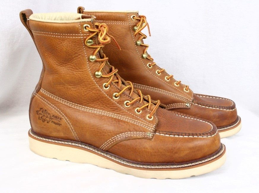 Red wing boots · FIELD N FOREST Brown Leather Crepe Sole Heritage Moc Toe  Hunting Boot Men 8.5 EE #