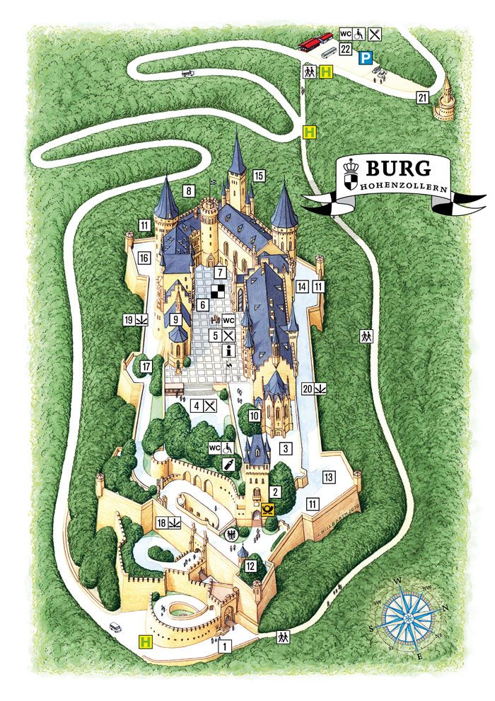 Castle Plan Burg Hohenzollern En Castle Plans Hohenzollern Castle Germany Castles