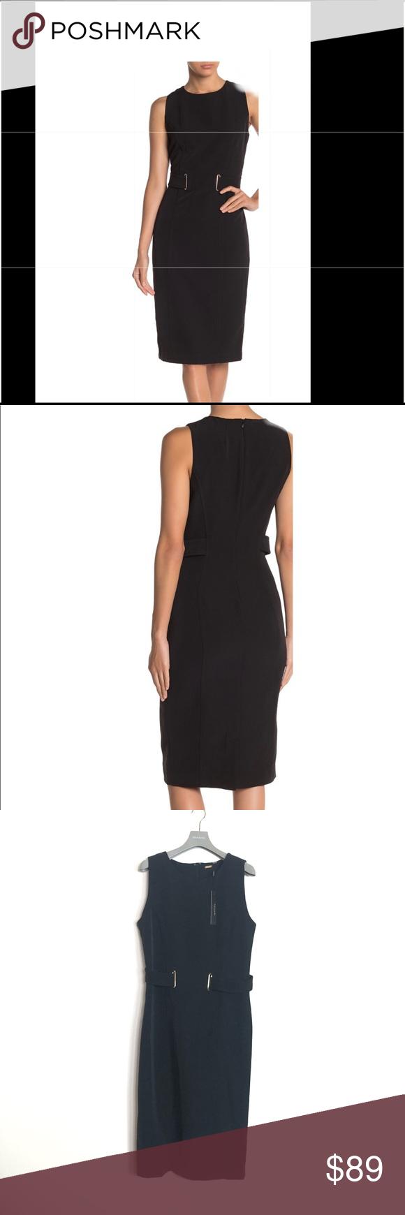 Tahari Belted Sheath Dress Size 8 New With Tags T Tahari Dress Clothes Design Sheath Dress [ 1740 x 580 Pixel ]