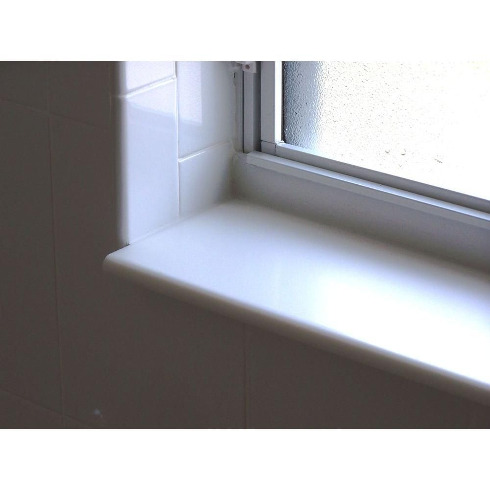 Siltech Innovative Windowsill Products Designer White 1 2 In X 5 7 8 In X 36 In Acrylic Bullnose Window Sill Moulding N6c36dw The Home Depot In 2020 Bathroom Window Sill Ideas Window Sill Kitchen Window Sill