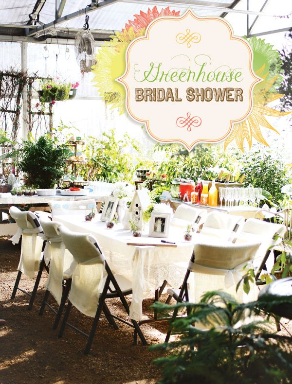 Charming Greenhouse Bridal Shower Ideas Gardens Bridal showers