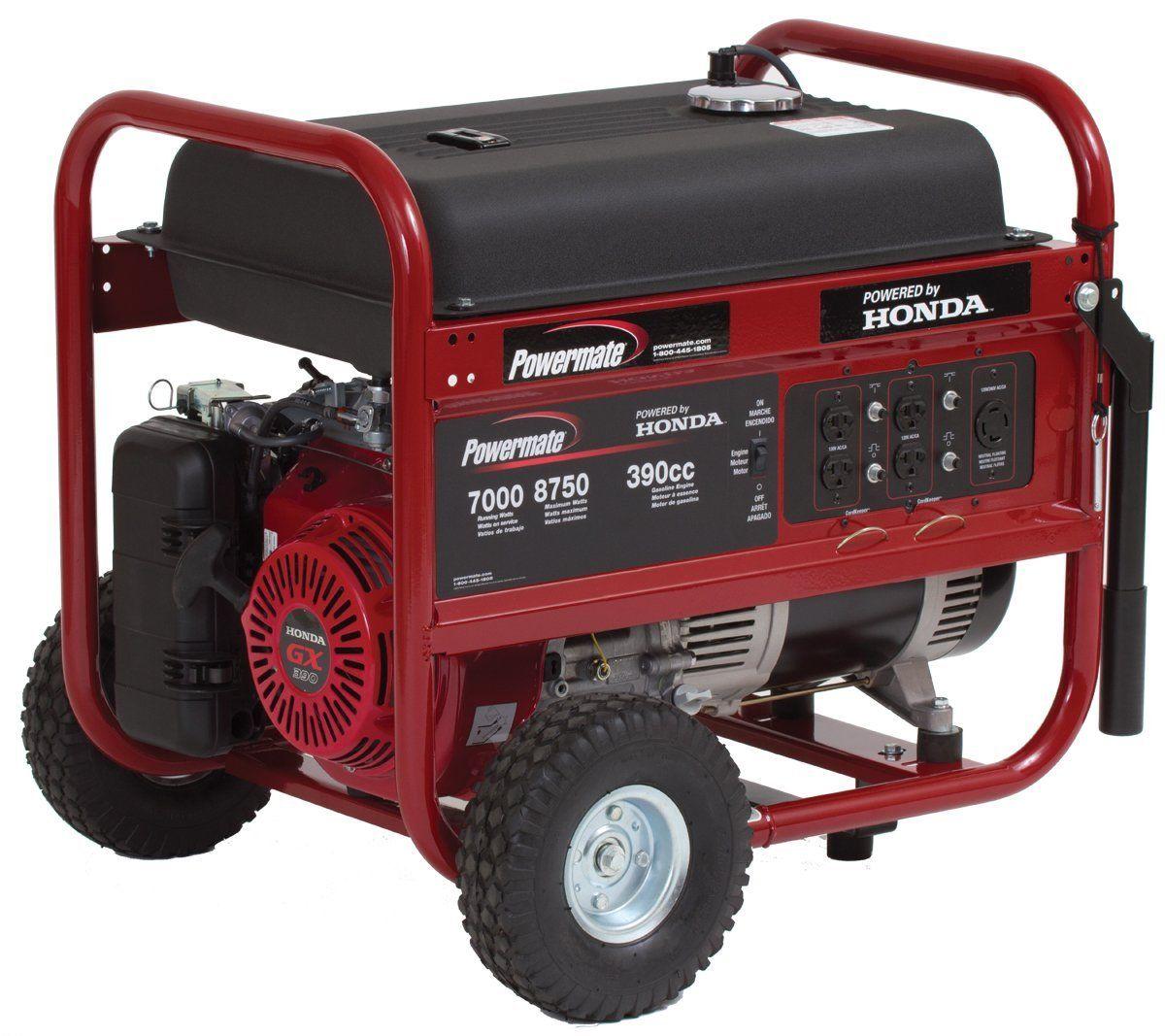 Review A Powermate Pm0497008 8 750 Watt 389cc 13hp Honda Gx390 Gas Powered Portable Generator