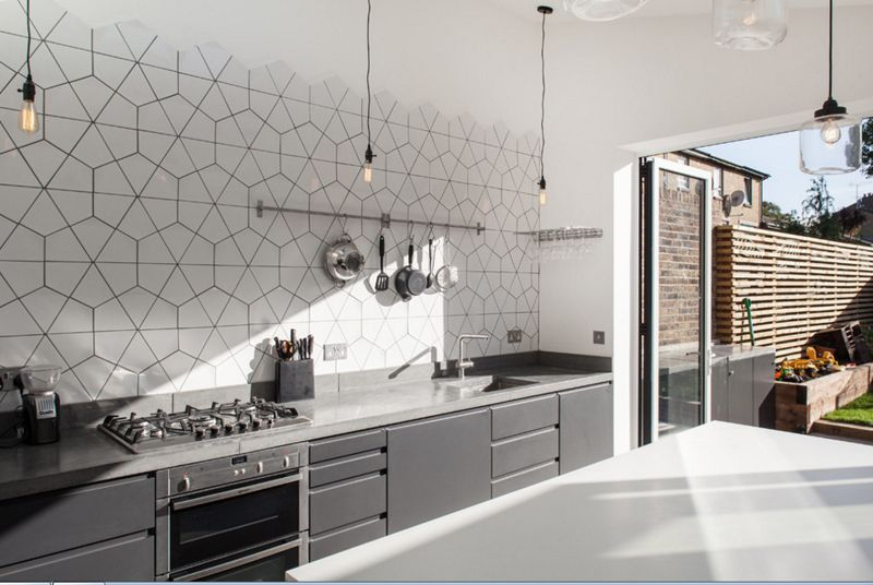 20 Geometric Backsplash Tiles In The Kitchen Contemporary