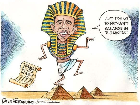 cartoon image of barrack obama dressed in ancient royal