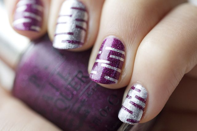 Silver and Purple Stripes ---> I wish I could do this!