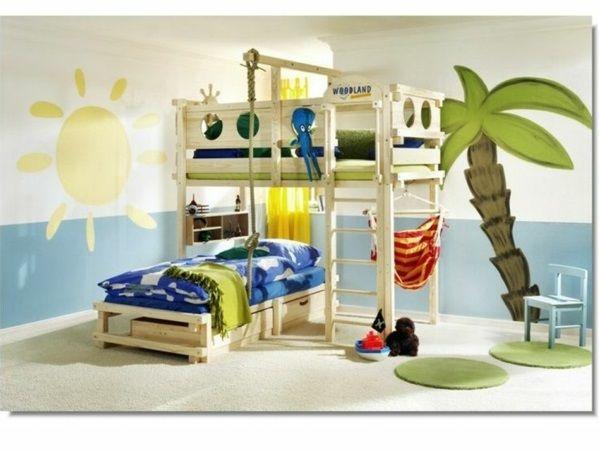 betten designideen auergewhnlich etagenbett wanddeko - Coolste Etagenbetten