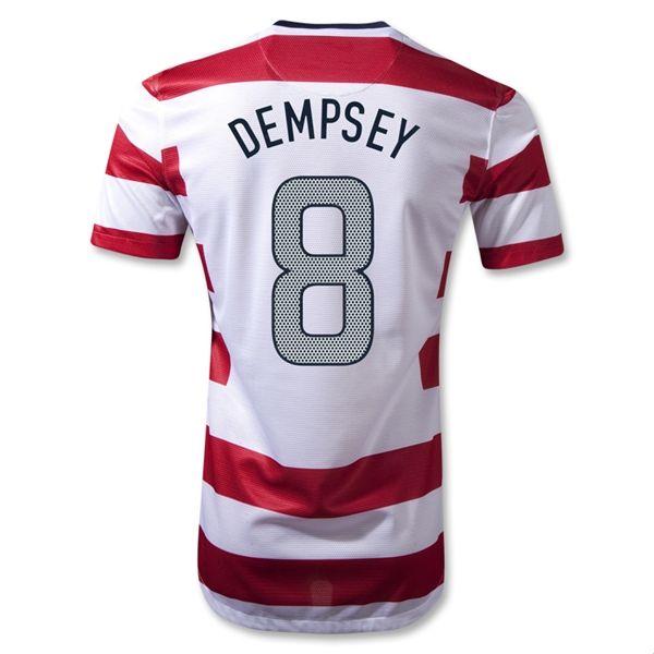best quality 12 13 usa dempsey 8 home national team jerseysoccer jersey wholesale