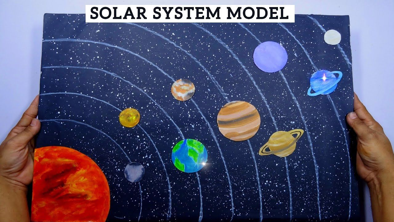 How To Make 3d Solar System Model School Project 3d Model Solar Sy In 2020 Solar System Model 3d Solar System Solar System