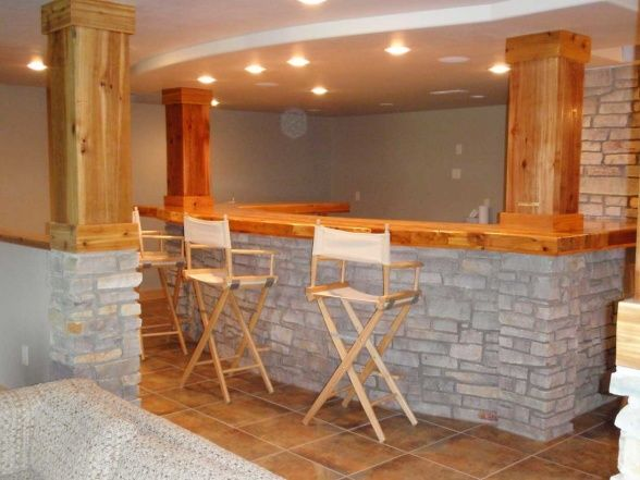 Love Faux Stone On A Basement Bar. Classy Elegant And Easy DIY  Installation. Large