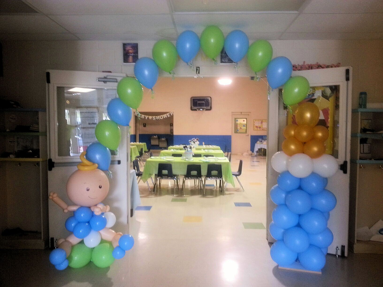 Baby boy balloon arch | Balloon Arches | Pinterest | Balloon balloon