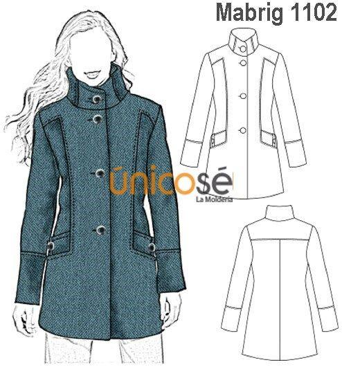 adb2dc372 Ùnicosé La Moldería en 2019 | Moldes y costura | Abrigos y chaquetas,  Patrones de ropa y Patrones de vestidos
