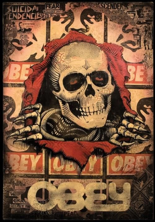 obey shepard fairey street art graffiti art misc pinterest la mort affiches et images. Black Bedroom Furniture Sets. Home Design Ideas