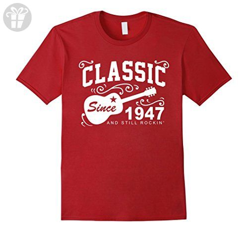 Mens Classic Since 1947 Funny Birthday Tshirt For Men Turning 70 XL Cranberry