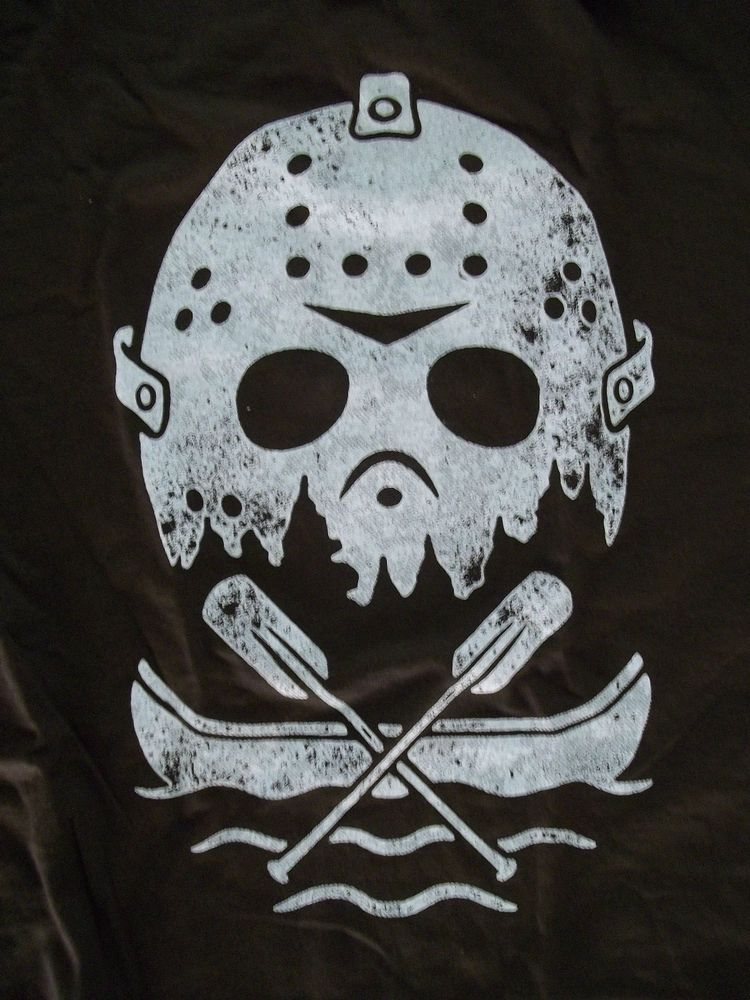 To Print For Jason Mask Pumpkin Stencil: ShirtPunch! Friday The 13th JASON Mask And Boat T-shirt