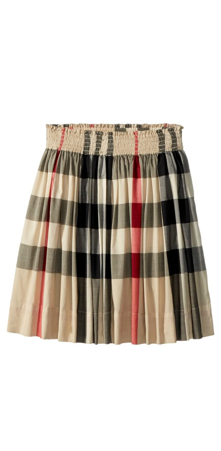 b22d7e36e575 A treasured classic. Start a new chapter of cherished charm in the beauty  of the  Burberry  Kids Hala Gathered  Skirt.  girls  child  children ...