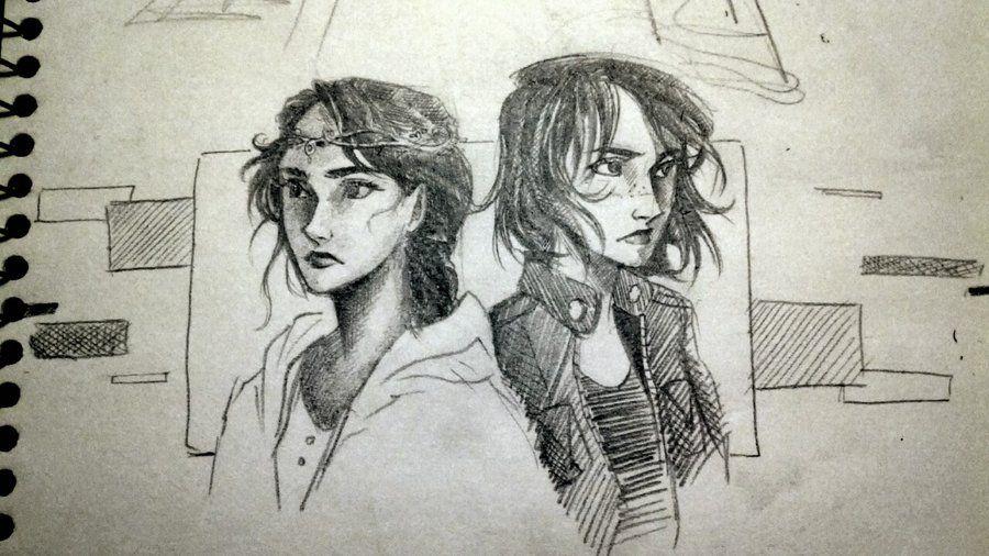 Zoe Nightshade and Thalia Grace (Hunter's soul by Win-E on DeviantArt)