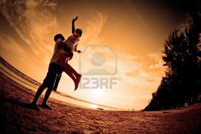 Romantic Scene Of Couples On The Beach Royalty Free Stock Photo, Pictures, Images And Stock Photography. Image 8375896.