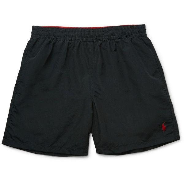 Black Polo Swim Trunks