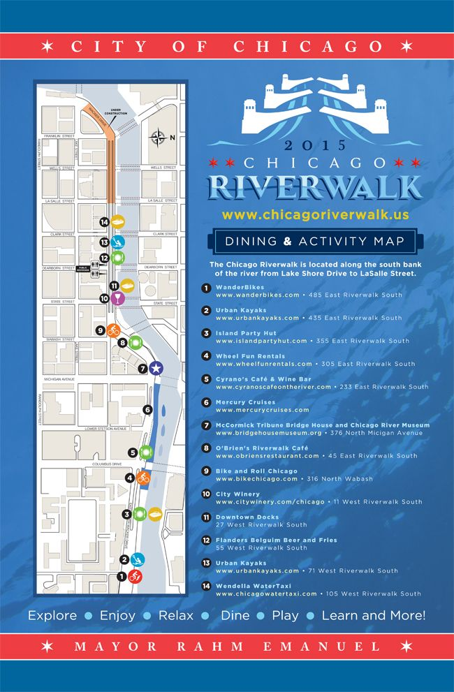 Riverwalk Chicago Map.Chicago Riverwalk Extension Opening This Weekend Loopchicago Com