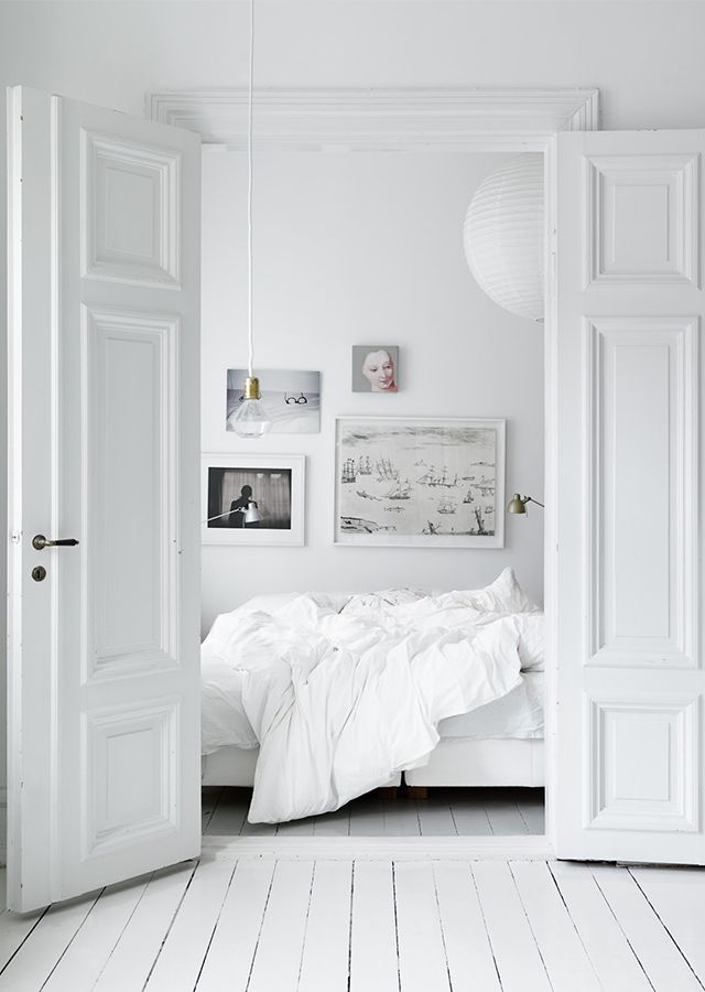all-white bedroom - gorgeous