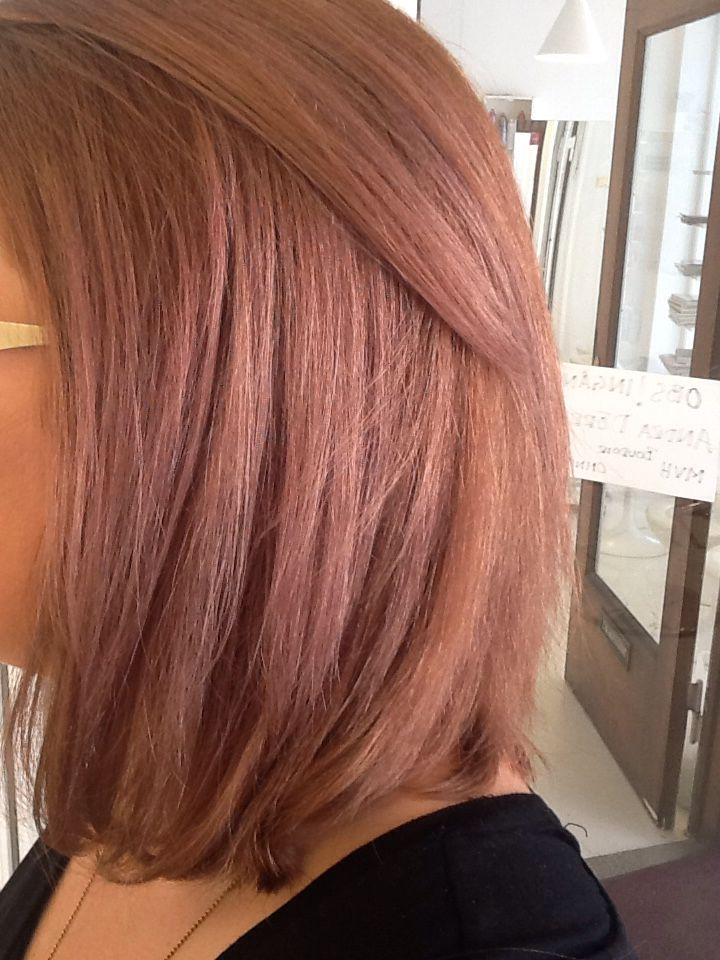 Wella Ecaille By Couture Color Tortoiseshell Hair Rose Gold With The Technique