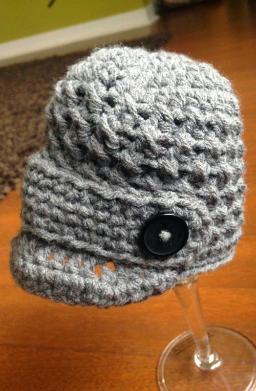 The Dainty Daisy: Newborn Textured Newsboy Hat | Crochet | Pinterest