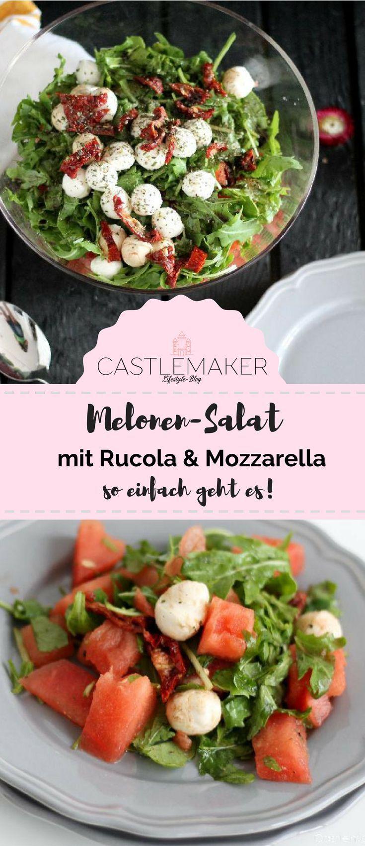Der Partyhit: Melonen-Salat mit Rucola und Mozzarella #chickenalfredo