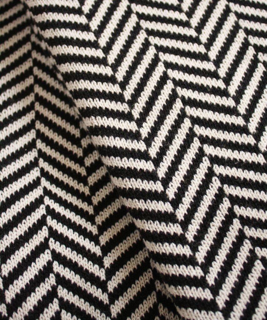 Knit Herringbone Throw Blanket Black White Herringbone Throw Blanket Blanket Knitting Patterns Knitted Blankets