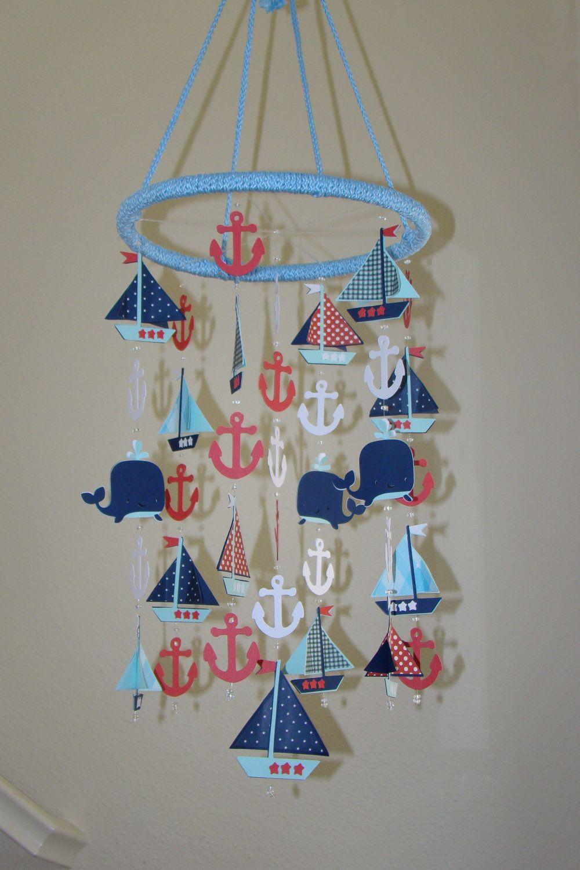Adorable Nautical Sailboat Sea Ocean Baby Mobile. 75.00$, via Etsy.