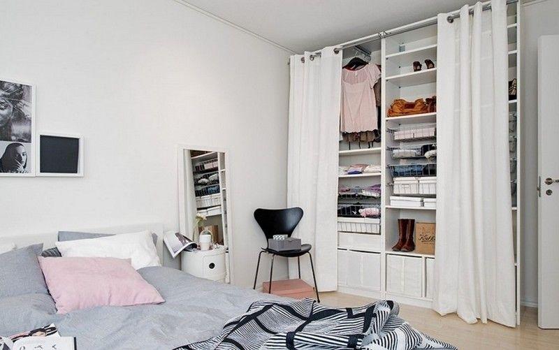 dressing pour petite chambre id es fonctionnelles modernes armoire penderie chambres. Black Bedroom Furniture Sets. Home Design Ideas