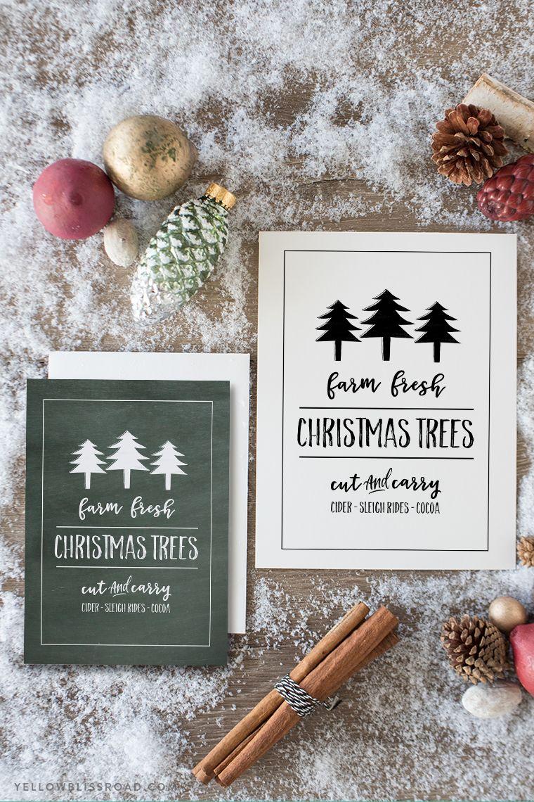 Fresh Christmas Trees Free Printable Sign | Christmas | Pinterest ...