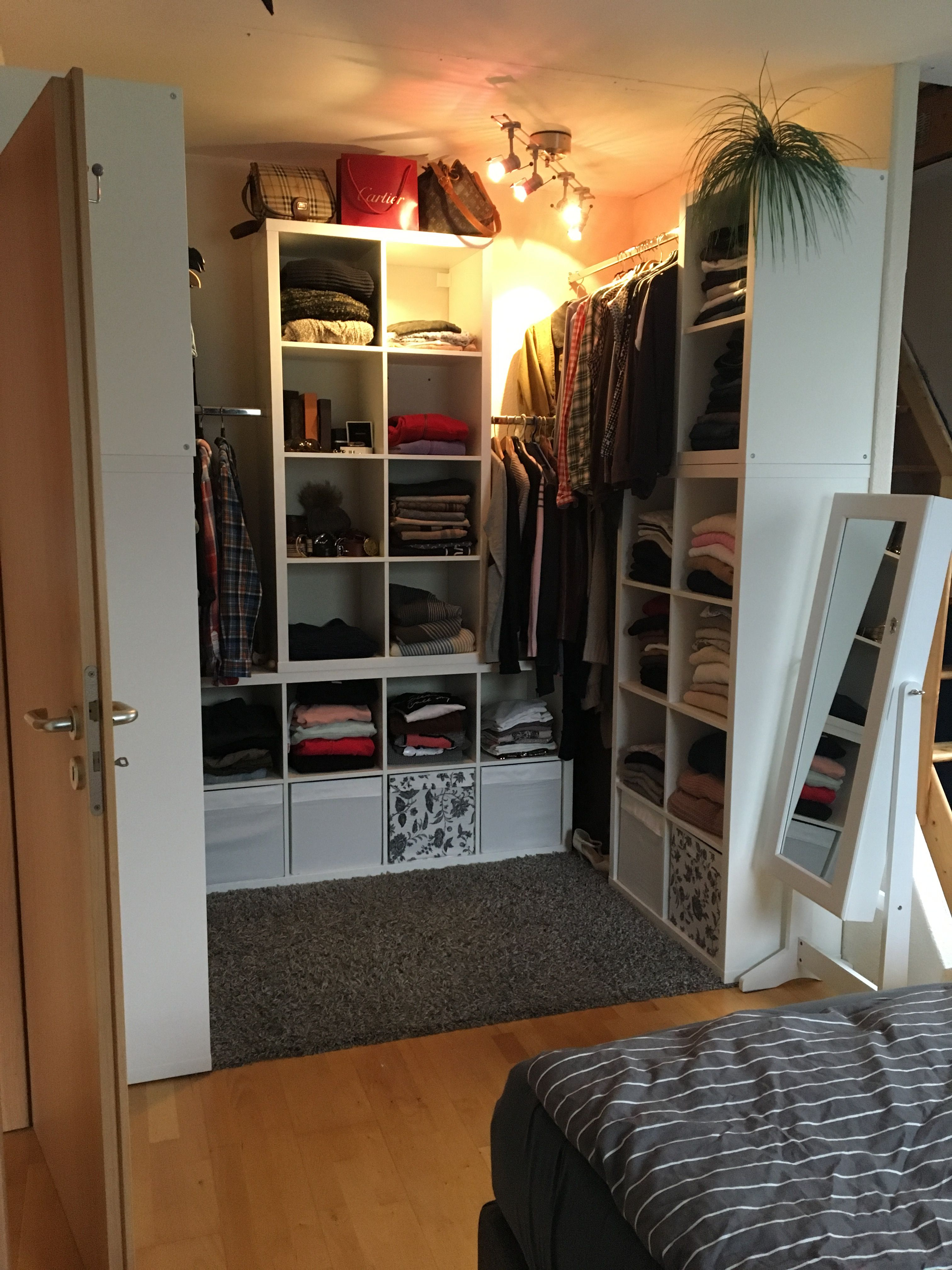 Ikea Begehbarer Kleiderschrank begehbarer kleiderschrank mit ikea kallax ต เส อผ า