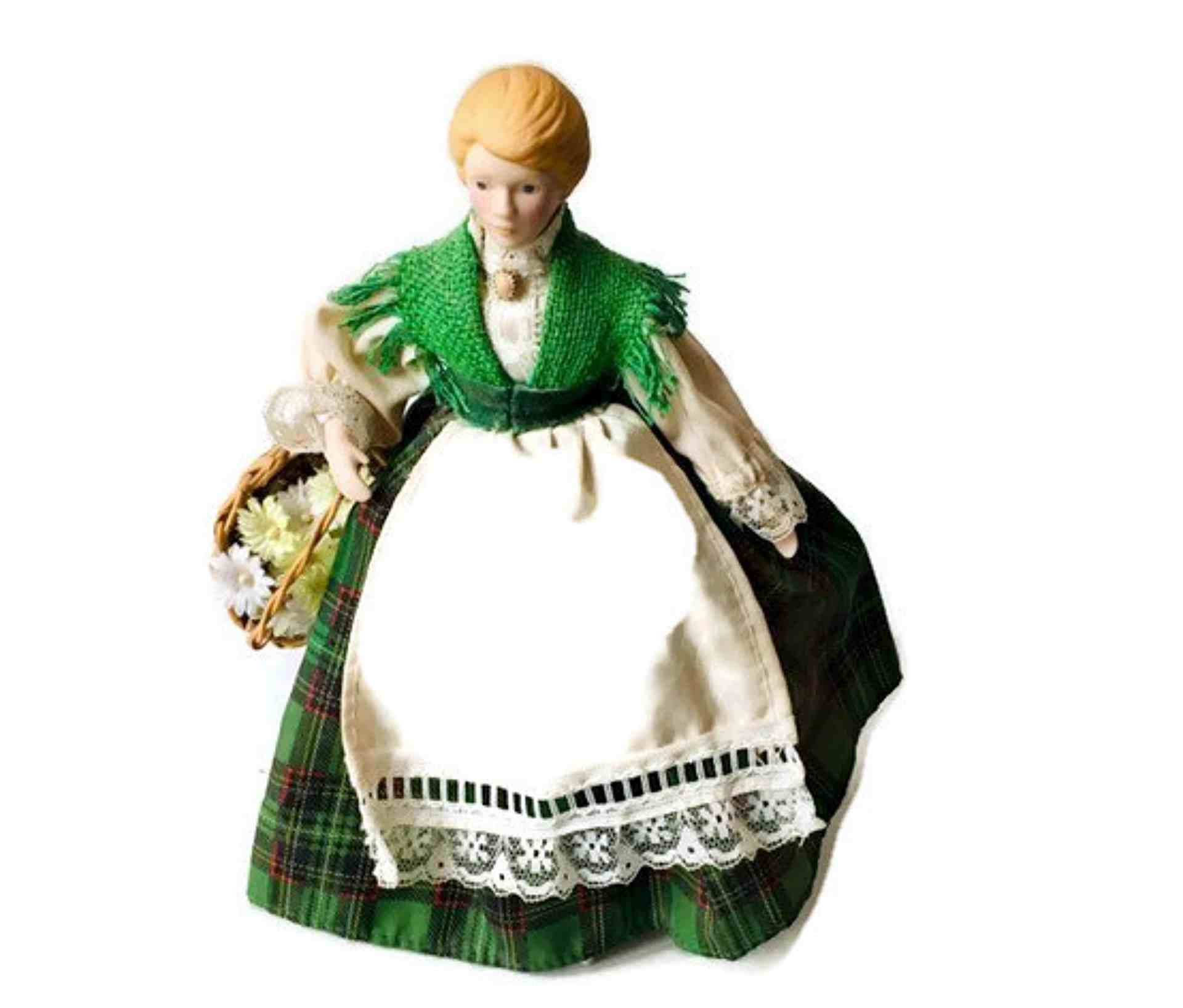 Irish Vintage Doll in Traditional Dress/ Collectible Bisque