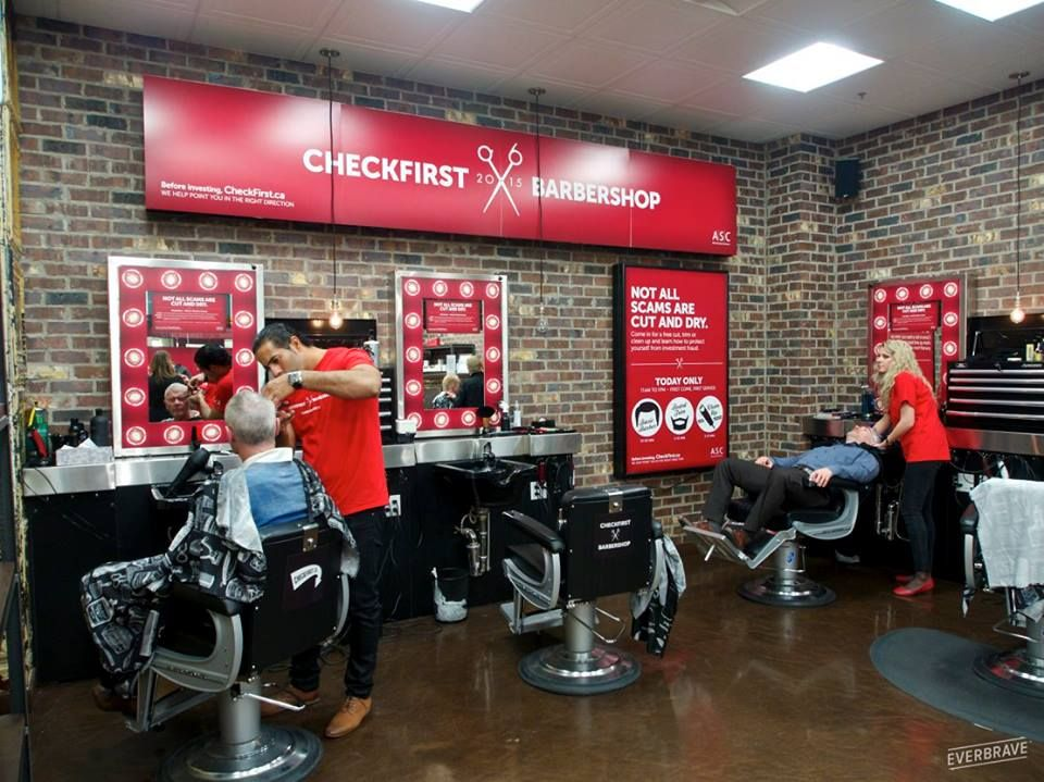 Checkfirst.ca - This time we've taken over a barbershop!
