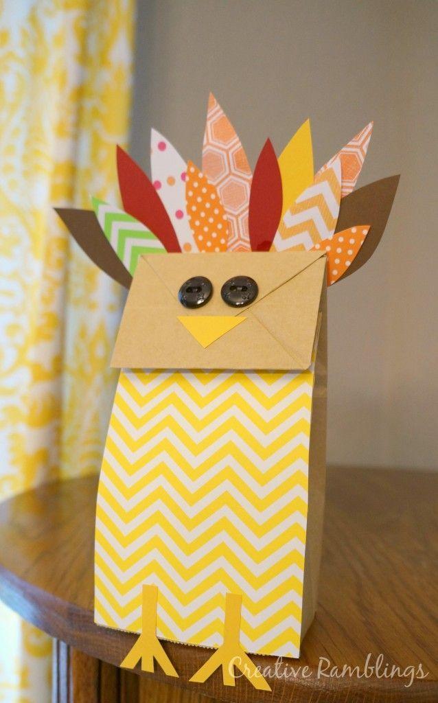 Paper Bag Craft Ideas For Kids Part - 28: Paper Bag Turkey Thanksgiving Kids Craft