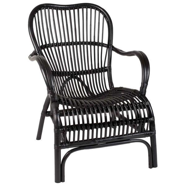 Sessel comic  Rattan-Sessel schwarz, von Ib Laursen | Stühle & Sitzmöbel ...