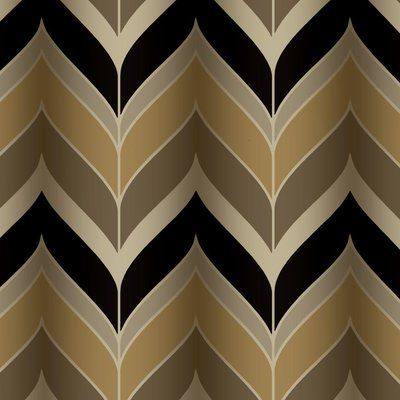 York Wallcoverings Modern Luxe Gatsby 27 X 27 Herringbone Wallpaper Color Metallic Gold Black Modern Wallpaper Designs Herringbone Wallpaper Wall Coverings