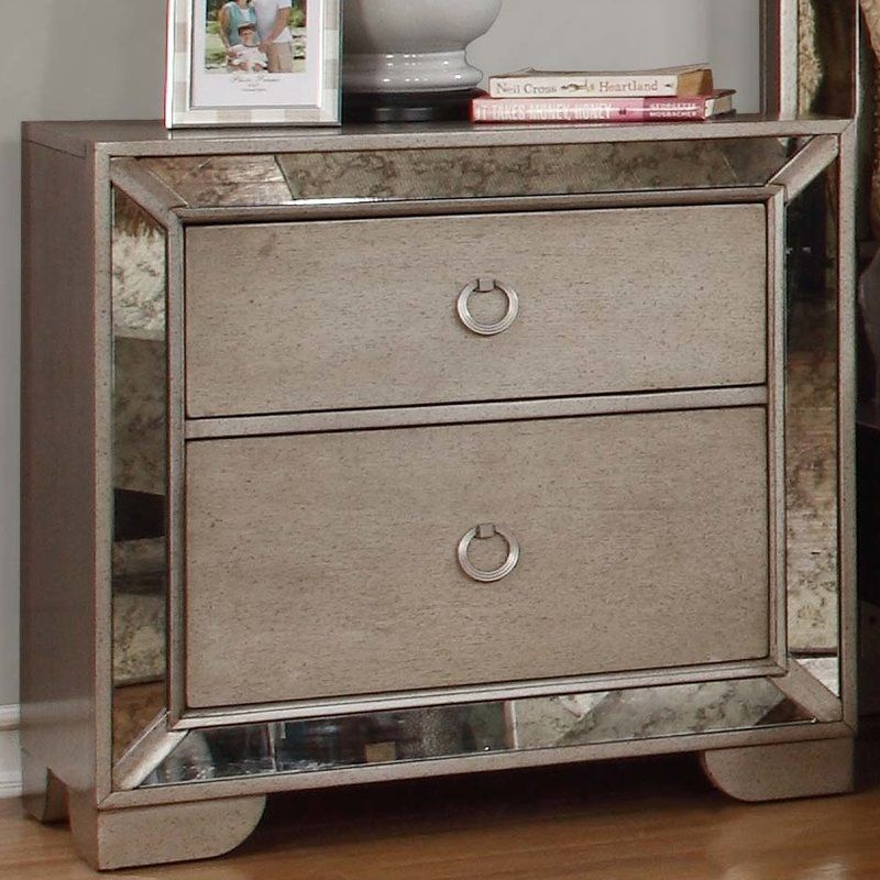 Dowson 2 Drawer Nightstand Mirrored Nightstand 2 Drawer Nightstand Nightstand
